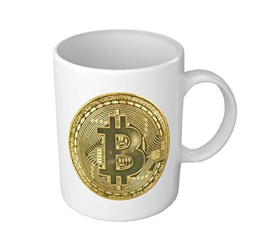 Bitcoin Coin Crypto Currency Becher Kaffeebecher Keramik Tee Tasse Büro und Zuhause Vorhanden Einzigartig Geschenk