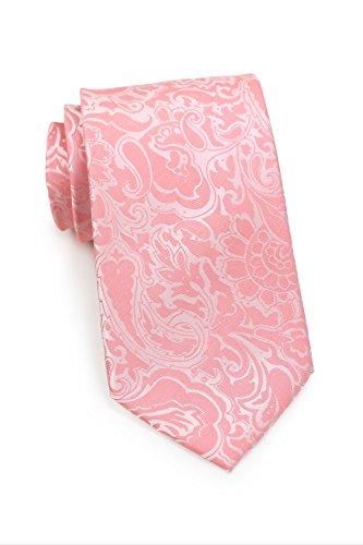 PUCCINI Herren-Krawatte   Paisley-Muster   Mikrofaser   Handarbeit