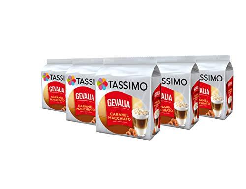 TASSIMO Gevalia Latte Macchiato Caramel Kaffee Kapseln Pods 5er Pack, 40 Getränke