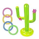 Chanety Piscine extérieure Accessoires Gonflable Cactus Bague Jeux Jeu Ensemble Flotting Pool Toys Beach Party Fournitures Party Bar Voyage (Color : Une)