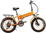 Bicicletta Elettrica, 48v 500w 20inch Sospensione pieghevole Fat Tire Bike elettrica 12Ah batteria...