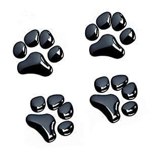 Four paw print auto decals