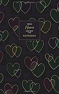 Hearts Notebook - Ruled Pages - 5x8 - Premium: (Crayon Edition) Fun notebook 96 ruled/lined pages (5x8 inches / 12.7x20.3c...