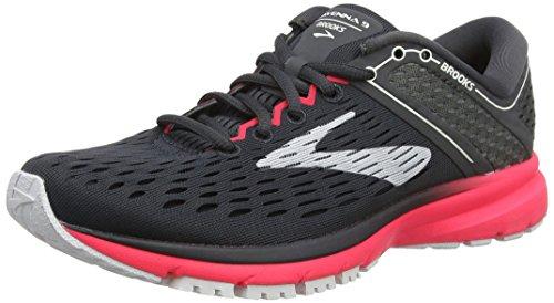 Brooks Women's Ravenna 9 Running Shoes, Multicolour (Ebony/Diva Pink/White 027), 3.5 UK