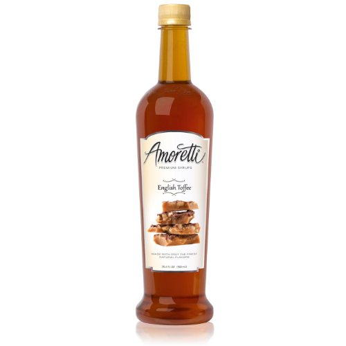 Amoretti Premium Syrup, English Toffee, 25.4 Ounce
