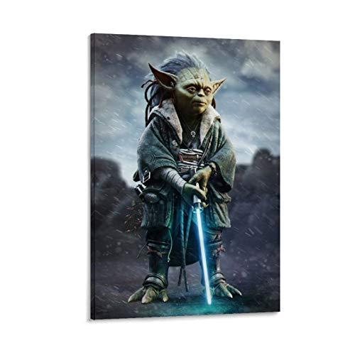 Ghychk Star Wars Mandalorianischer Jedi-Meister Yoda Wandbild, Kunstdruck auf...