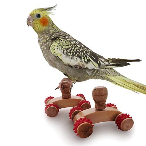 Xzbnwuviei Juguete de entrenamiento de polea de loro, 1 par de patines de mesa para loros pequeños, medianos y medianos, puzles de entrenamiento de inteligencia de aves