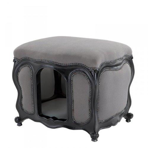 Barock Hunde & Katzen Haus Luxury Grey/Black