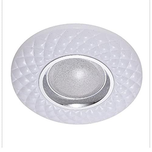 Lámpara de araña de techo minimalista LED dormitorio con control remoto moderno creativo blanco diseño redondo lámpara de plafón regulable brillo interior iluminación de techo para sala de estar Ø50cm
