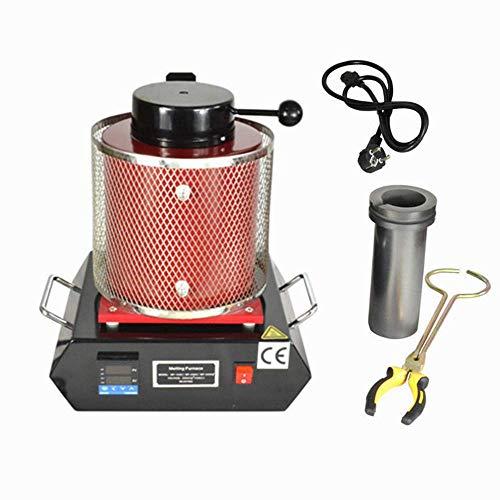 SenderPick - Horno de fundición digital (3 kg, 1150 °C, 2100 W), color dorado