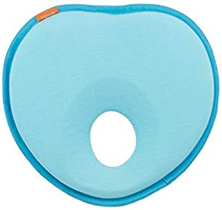 Hillside Newborn Baby Pillow   Head Shaping Pillow for Preventing Flat Head Syndrome - Plagiocephaly in Infants (Teal & Robin Egg Blue)