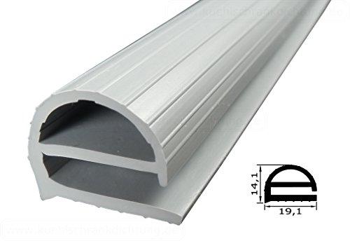 Profildichtung - Profil 104 - 2500mm - Farbe: Grau (Kühlschrankdichtung)