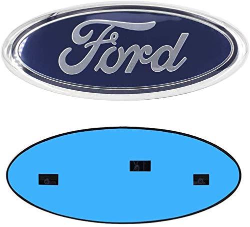 """9inch Ford Emblem, F150 Emblem Oval 9""""X3.5"""" Blue Ford Front Grille Tailgate Emblem Decal Badge Nameplate Fits for 04-14 F250 F350,11-14 Edge,11-16 Explorer,06-11 Ranger"""