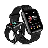 APP Look Smart Watch for Men Women Waterproof Smart Band Heart Rate Sleep Monitor Touch Screen Smart Fitness Watch Get Call SMS Alert with Pedometer Step/Calorie Counter Music Control