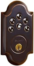 Baldwin 8252.112.AC1 Venetian Bronze Boulder Keyless Entry Single Cylinder Electronic Deadbolt
