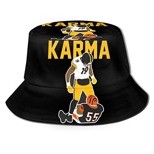 LianLiYa Kar-Ma Ju-Ju+Smith Sombrero de Pescador Unisex Impreso Casual al Aire Libre Sombrero de Pescador Travel Bucket Hat