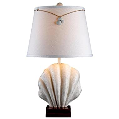 Kenroy Home 32268AWH Islander Table Lamp, Antique White Finish