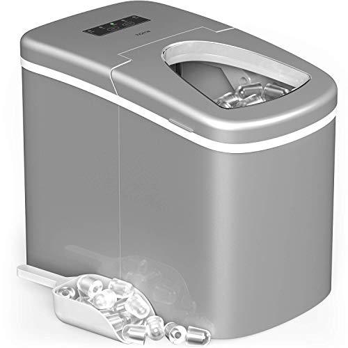 hOmeLabs Portable Ice Maker Machine for Countertop - Makes 26 lbs of Ice  per 24 hours - Ice Cubes ready in 8 Minutes - Electric Ice Making Machine  ...