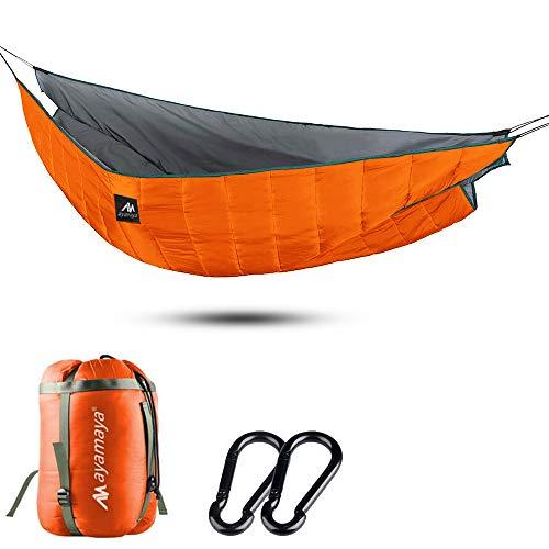 AYamya Amaca Underquilt - Amaca per esterni, ultraleggera, in cotone non oscurato, 10-0 gradi, per amache, isolamento leggero, campeggio, escursionismo