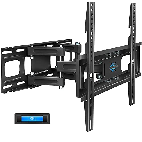 BLUE STONE Full Motion TV Wall Mount Bracket with Height Setting for Most 27-65 inch up to 121 lbs,VESA 400x400 mm,Dual Swivel Articulating Arms Tilt Rotation for Flat Screen,LED,4K Curved TVs