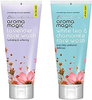 Aroma Magic Face Wash 100 ml (Lavender) And Aroma Magic White Tea And Chamomile Face Wash, 100ml