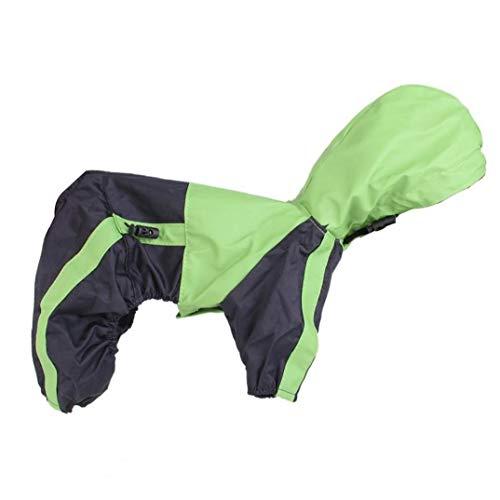 Netter Katze Utensilien Hund Regen Mantel mit Kappe Wasserdicht Puppy Jacke Pet Regenkleidung Kleidung für kleine Hunde/Katzen - Grün Größe M