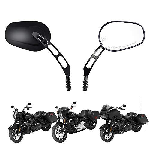 Evermotor Motorfiets achteruitkijkspiegel voor Harley Street Bike Quad Roller Cruiser ATV bromfiets
