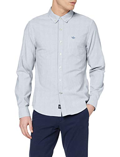 Dockers Stretch Oxford Shirt Camicia, Bengal Stripe Delft, XXL Unisex-Adulto