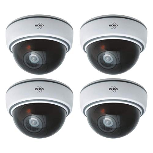 ELRO CDD15F Dummy Dome Camera - met flitslicht - 4-pack