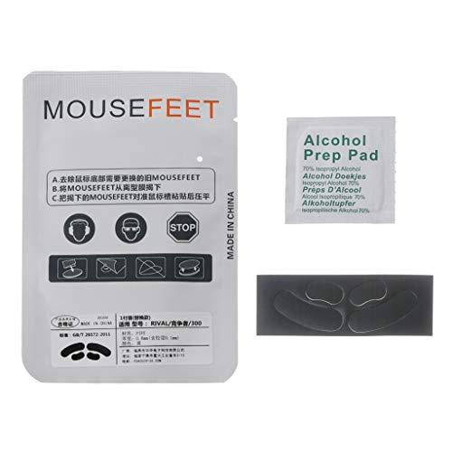 Ycncixwd 1 Satz 06 mm Mausfüße ersetzen Mouse Skates für SteelSeries Rival 300 300S Mouse