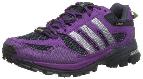 adidas Performance Damen Supernova Riot 5 Gore-Tex Laufschuhe, Violett (Tribe Purple S14/Tech Grey Metallic S14/Tribe Green S14), 37 1/3 EU
