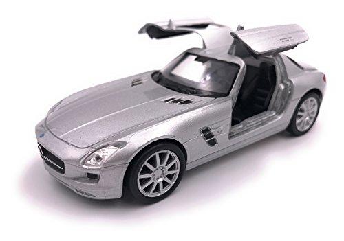 Welly Mercedes SLS AMG Modelauto auto gelicentieerd product 1:34-1:39 zilver