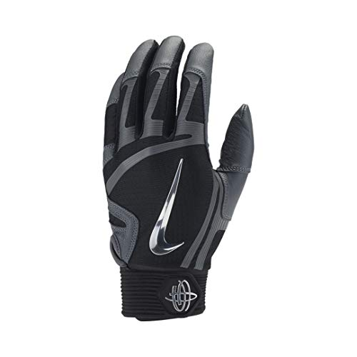 Nike Huarache Elite Echtleder Batting Gloves, Baseball Handschuhe - schwarz Gr. L