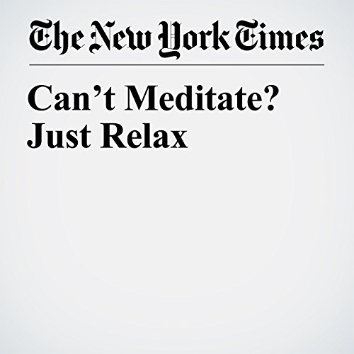 Can't Meditate? Just Relax copertina