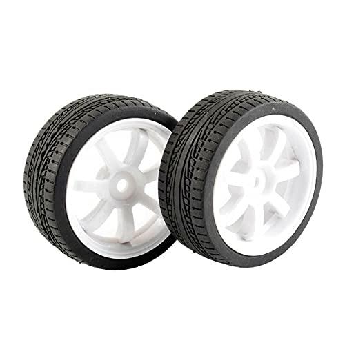 VIKEP 4 Piezas Neumáticos de Agarre Rueda en Forma para HSP Racing 1/10 1.10 Coche en Carretera Mini reemplazo de Coches (Color : 9005W-6093)