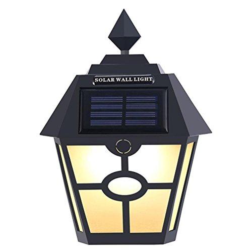 LEDMOMO Luces solares LED Lámpara de pared hexagonal vintage Luces de pared solares impermeables para entrada de jardín Cubierta de pared de portón trasero Patio [Clase de eficiencia energética A +]