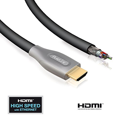 PureLink ID-PS2000-05 High Speed HDMI kabel met Ethernet voor 3D en HDTV resoluties tot 4K (2160p), 0,5 m zwart