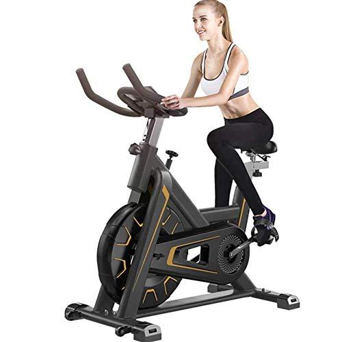 Bicicleta de ciclismo para interiores estacionaria - Bicicleta estática con cómodo cojín de asiento, transmisión silenciosa por correa, soporte para iPad - Bicicleta estática para gimnasio en casa