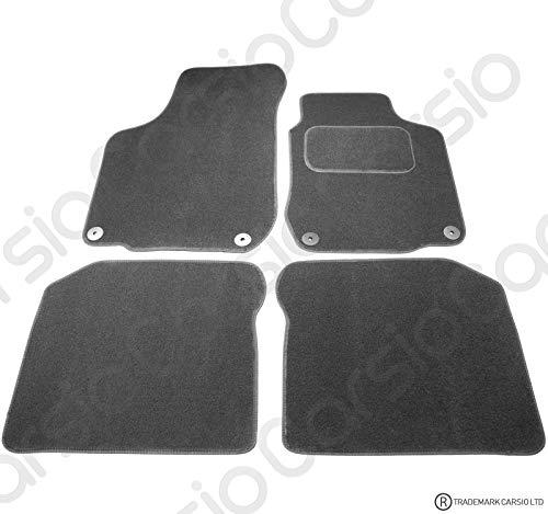 Carsio CARP-CUT-3186-(55x4) Tapis de Voiture sur Mesure pour VW Golf MK4 & Beetle – Lot de 4 pièces avec 4 Clips Noir