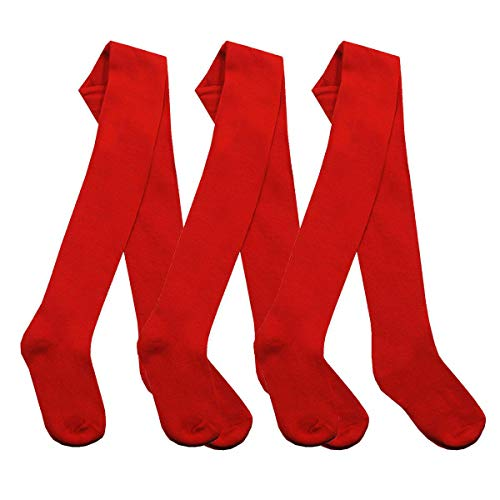 3 Pair Packs Tights Girls Back to Schools Pairs Warm Cotton Rich Plain Soft...