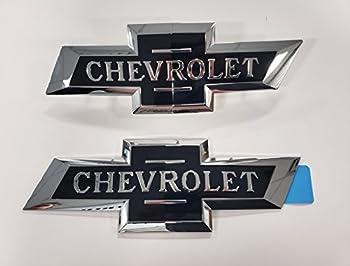 2016-2018 Silverado 1500 Heritage Bowtie Emblems 84459956 Centennial 100 Year OE Dark Blue w/Chrome Trim