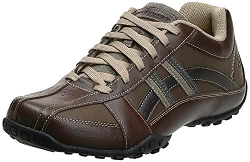 Skechers USA Men's Citywalk Malton Oxford Sneaker,Brown,13 M US