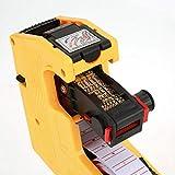 Pistola etiquetadora de precios con kit de etiquetas MX-5500 Etiquetadora Pistola etiquetadora Múltiples símbolos de moneda Marcador de precios para etiquetado de mano con pegatinas de(yellow)