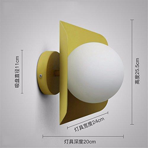 JJZHG wandlamp wandlamp waterdichte wandverlichting wandlamp slaapkamer nacht woonkamer gang trap veranda balkon plafondlamp muur geel bevat: wandlamp, stoere wandlampen