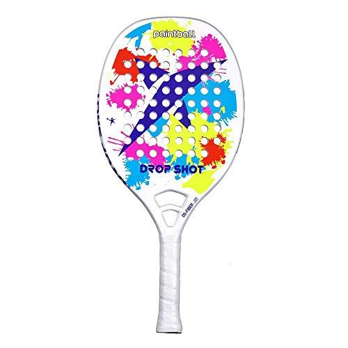 DROP SHOT Paintball BT Pala Beach Tenis, Unisex Adulto, Azul, 330-360 gr