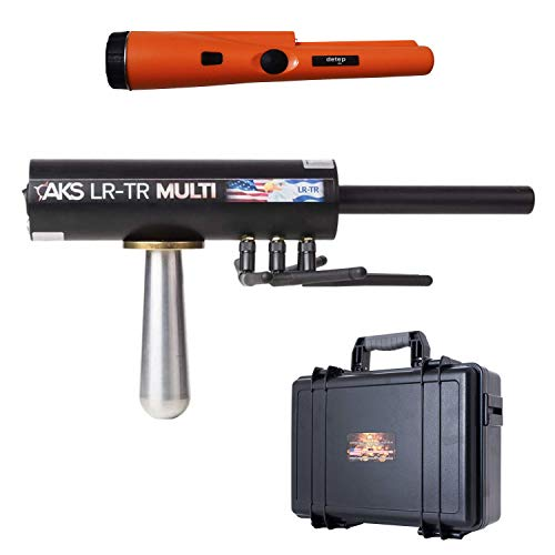 GOLD AKS Real Multi-Long Range Geolocator - Authentic Gold Hunter and Silver Underground Detection System - 3 Search Systems - with Free Pin Pointer