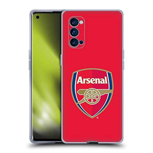 Head Case Designs Oficial Arsenal FC Rojo a Todo Color. Cresta 2 Carcasa de Gel de Silicona Compatible con OPPO Reno 4 Pro 5G