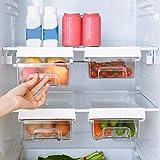 Organizador de cajones para frigorífico,cajón retráctil,caja de almacenamiento para frigorífico,compartimentos extraíbles de diseño único,caja de almacenamiento para soporte estante para frigorífico