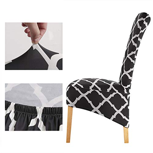 Tireyeres Large Size unterstützen lang Stuhl-Abdeckung König High Back Spandex Hussen Restaurant Hotel-Partei-Bankett Stuhl Slipcovers Charcoal XL Size