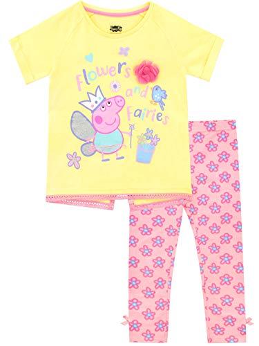Peppa Pig Pijamas de Manga Corta para niñas Hadas Rosa 4-5 Años